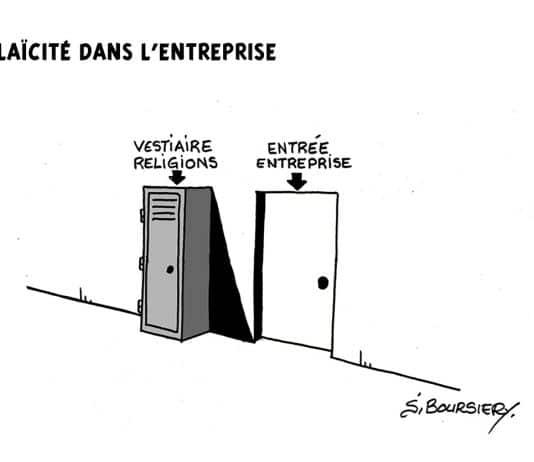 illustration humoristique de la laïcité en entreprise