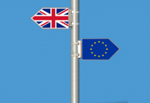 brexit drapeau europe et uk