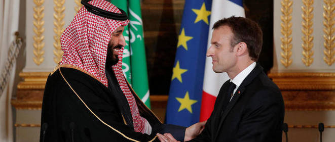Macron et MBS - Arabie Saoudite France